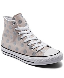 Women's Glitter Shine Chuck Taylor All Star High Top Casual Sneakers from Finish Line