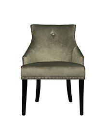 Nailhead Trimmed Upholstered Dining Chair