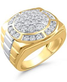 Men's Diamond Round Cluster Ring (2 ct. t.w.) in 10k Gold & White Gold