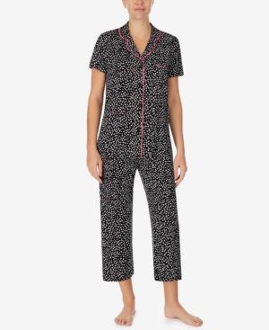 Printed Cropped Pants Pajamas Set