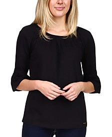 3/4-Flared-Sleeve Top