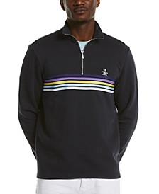 Men's Quarter-Zip Striped Pullover