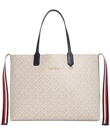 Iconic Tommy Monogram Tote, Created for Macy's
