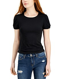 Juniors' Tab-Cuff Top
