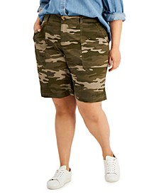Plus Size Relaxed-Fit Bermuda Shorts, Created for Macy's
