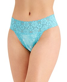 Women's Wide-Lace-Waist Thong Underwear, Created for Macy's