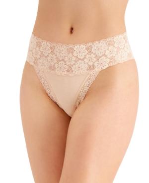 Women's Wide-Lace-Waist Thong Underwear