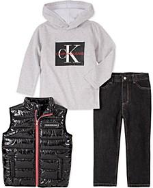 Baby Boys 3-Pc. Vest, Hoodie & Pants Set
