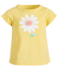 Baby Girls Cotton Daisy T-Shirt, Created for Macy's