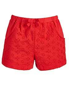 Toddler Girls Eyelet Knit Cotton Shorts, Created for Macy's