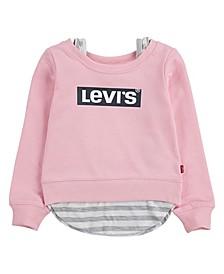 Toddler Girls Layered Sweatshirt
