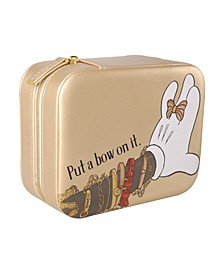 Minnie Mouse Gold Square Jewelry Case