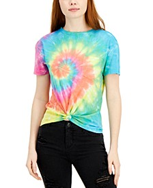 Juniors' Tie-Dyed Pocket T-Shirt