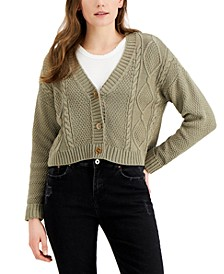 Juniors' Cable-Knit Cardigan