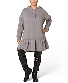 Juniors' Plus Size Fleece Hooded Dress