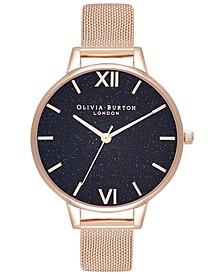 Women's Classics Rose Gold-Tone Stainless Steel Mesh Bracelet Watch 34mm