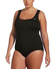 Plus Size Essential U-Back Swimsuit