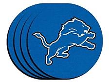 Detroit Lions 4pack Neoprene Coaster Set
