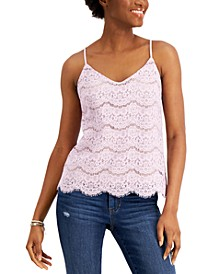 Juniors' Lace Camisole Top