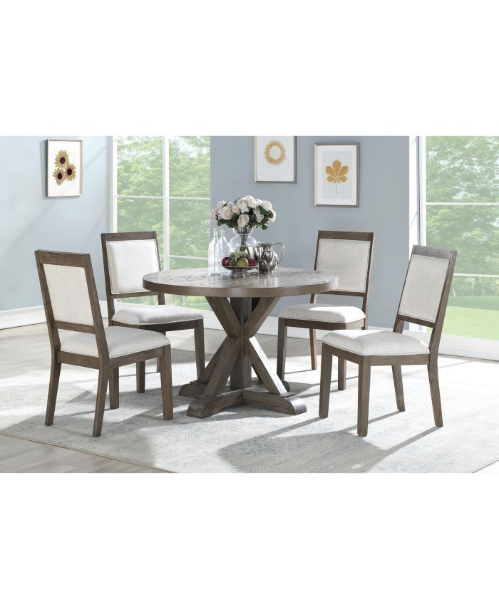 Steve Silver Molly 5-Pc. Dining Set, (Round Table & 4 Side Chairs) & Reviews - Furniture - Macy's