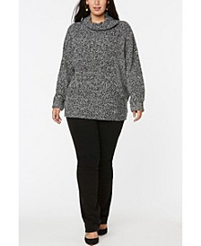 Women's Plus Size Chunky Turtleneck Sweater