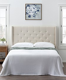 Wingback Twin Size Upholstered Headboard