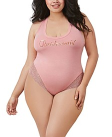 Women's Plus Size Soft Spandex-Jersey Bridesmaid Bodysuit