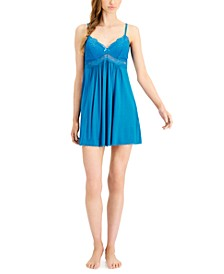 Lace-Trimmed Knit Chemise Nightgown, Created for Macy's