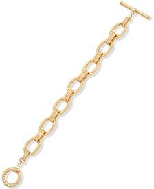 Gold-Tone Rope Link Flex Bracelet