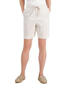 Petite Cotton Seersucker Drawstring Shorts, Created for Macy's