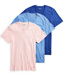 Men's 3-Pack Cotton V-Neck T-Shirts