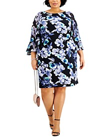 Plus Size Floral-Print Sheath Dress
