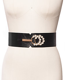 INC Embellished Stretch Belt, Created for Macy's