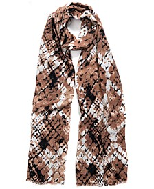 INC Snakeskin-Print Pashmina, Created for Macy's