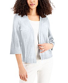 Petite Open 3/4-Sleeve Cardigan, Created for Macy's