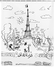 Paris Day Peva Shower Curtain