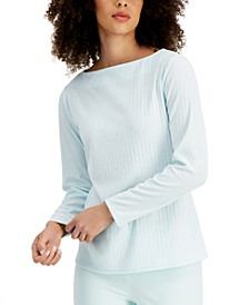 Ribbed Boat-Neck Top, Created for Macy's