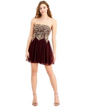 Juniors' Applique-Bodice Dress