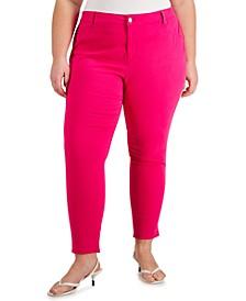 Plus Size Cotton Twill Pants