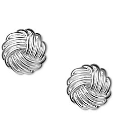 Silver-Tone Twist Stud Earrings, Created for Macy's