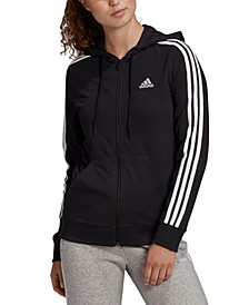 Women's Essentials Full-Zip 3 Stripes Hoodie