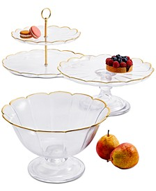 Gold-Detailed Glass Serveware Collection, Created for Macy's