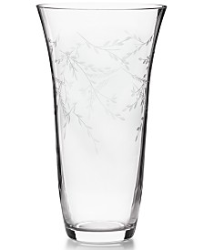 Classic Etched Floral Tall Vase, Created for Macy's