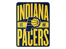 Indiana Pacers Micro Raschel Clear Out Throw Blanket