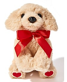 Valentine's Day Plush Dog with Red Bow & Heart-Shaped Paws, Created for Macy's