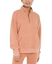 Juniors' Quarter-Zip Sweatshirt