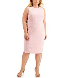 Plus Size Scoop-Neck Sheath Dress