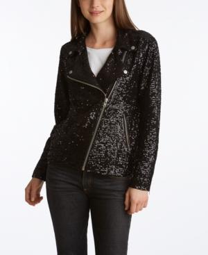 Women's Sequin Moto Jacket