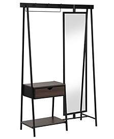 Revda 1-Drawer Coat Stand