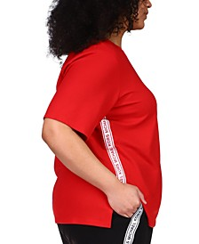 Plus Size Logo Tape T-Shirt